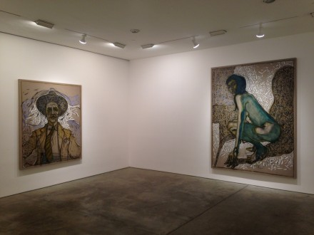 Billy Childish, flowers, nudes and birch trees: New Paintings 2015 (Installation View)