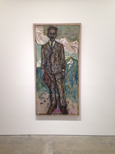 Billy Childish, man holding hat (2015)