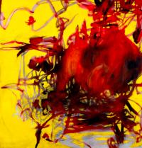 Charline Von Heyl, Boogey (2004), via Whitney