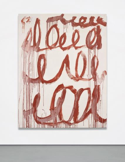 Cy Twombly, Untitled (2006), via Phillips