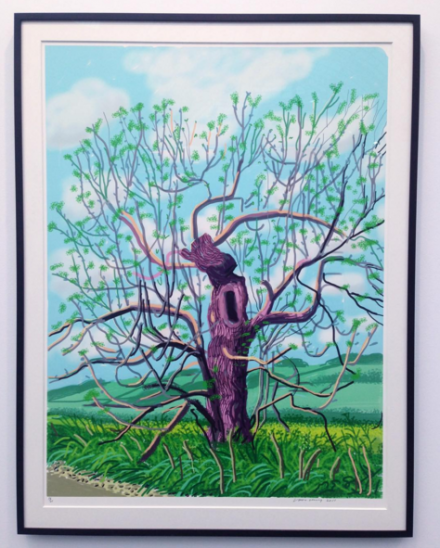 David Hockney, The Arrival of Spring in Woldgate, East Yorkshire in 2011 (2011(, at Annely Juda