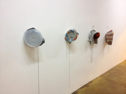 David Douard, bat-breath battery (Installation View), via Daphné Mookherjee for Art Observed