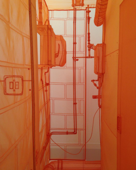 Do Ho Suh, Boiler Room London Studio (2015), at Victoria Miro