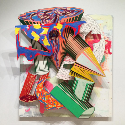 Frank Stella, Gobba, zoppa e collorto (1985), via Art Observed