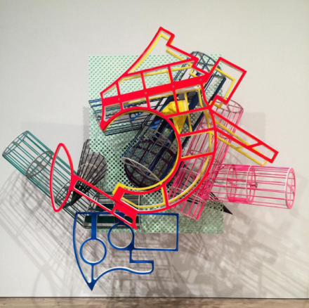 Frank Stella, La penna di hu, (1987-2009), via Art Observed