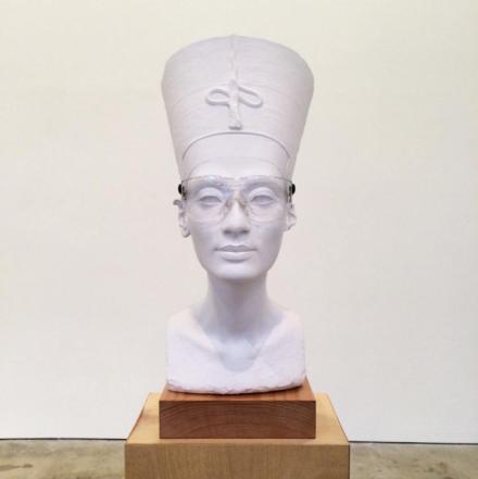 Isa Genzken, Nefertiti Sculpture (2015), via Art Observed