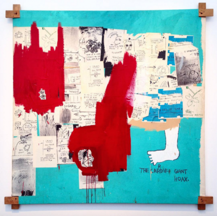 Jean-Michael Basquiat, Hoax (1983), at Van de Weghe