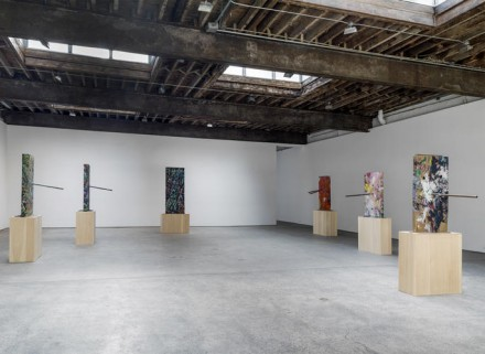 Mark Grotjahn, Painted Sculpture (Installation View), via Anton Kern