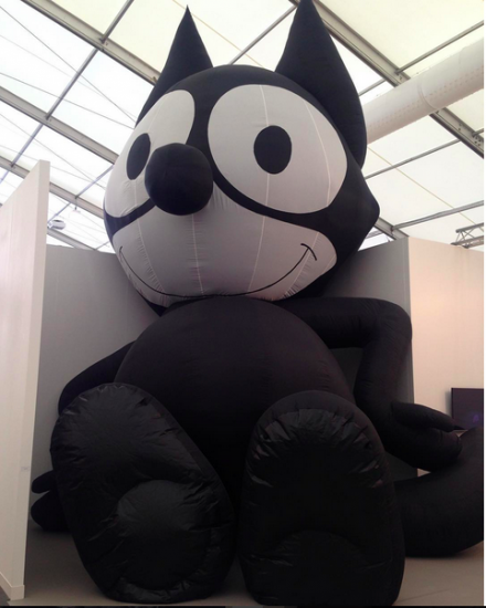 Mark Leckey, Inflatable Felix (2014) at Galerie Bucholz