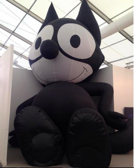 Mark Leckey, Inflatable Felix (2014) at Galerie Bucholz