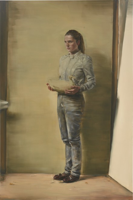 Michaël Borremans, Girl With Duck (2011), via Sotheby's