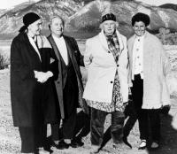 Olga Hirshhorn (right), with Georgia O'Keefe, Joseph Hirshhorn and Dorothy Brett, via Washington Post