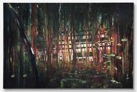 Peter Doig, Cabin Essence (1993-1994), via Christie's