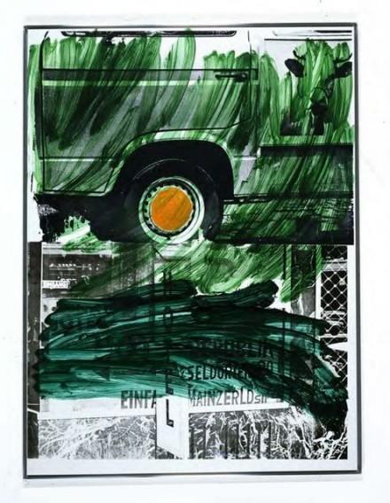 Robert Rauschenberg, Grass Hotel (Urban Bourbon), (1994), via Thaddaeus Ropac