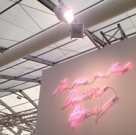 Tracy Emin, You Made Me Feel Beautiful again! (2015), at White Cube