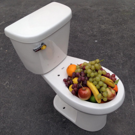 Urs Fischer, TBD Toilet (2015), at Sadie Coles HQ