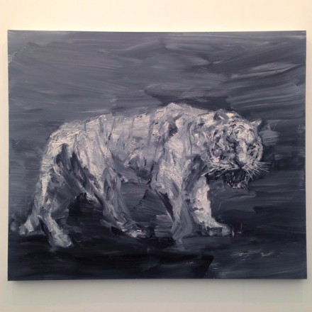 Yan Pei Ming, Tigre Blanc (2015) at Thaddaeus Ropac