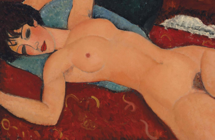 Amedeo Modigliani, Nu Couché (1917-18), via Christie's