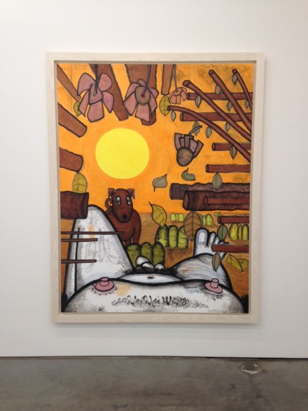 Carroll Dunham, Now and Around Here (3) (2015)