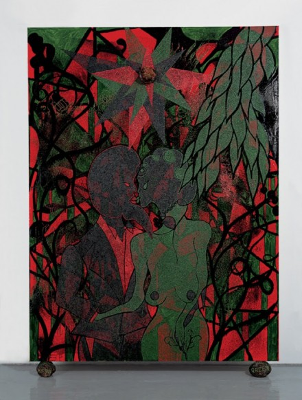 Chris Ofili, Afro Green, (2005-2008), via David Zwirner