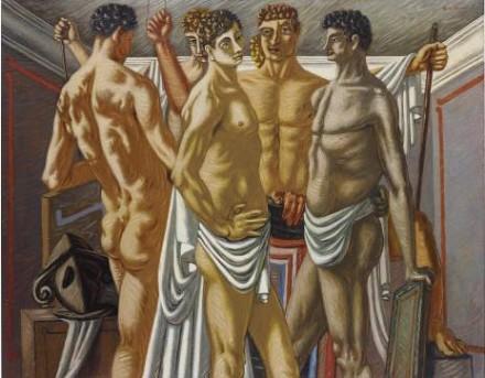 Giorgio de Chirico, Gladiateurs au Repos (1928-29), via Phillips