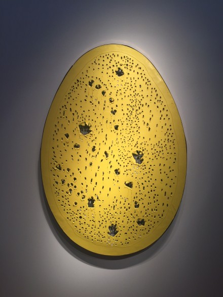 Lucio Fontana, Concetto spaziale, La fine di Dio (1964), via Rae Wang for Art Observed