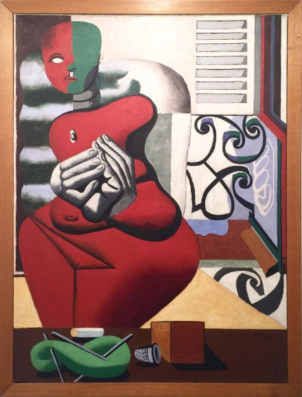 LE CORBUSIER, Femme rouge et pelote verte,