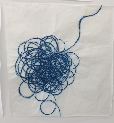 Jennifer Bornstein, Extension Cord (2015), via Rae Wang for Art Observed
