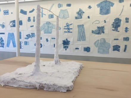 Jennifer Bornstein, New Rubbing & Psychological Tests(Installation View), via Rae Wang for Art Observed