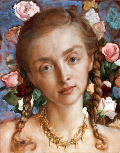 John Currin, Rachel in the Garden (2003), Courtesy Gagosian Gallery