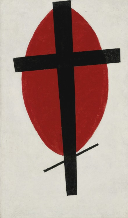 Kazimir Malevich Mystic Suprematism (Black Cross on Red Oval) (1920-22)