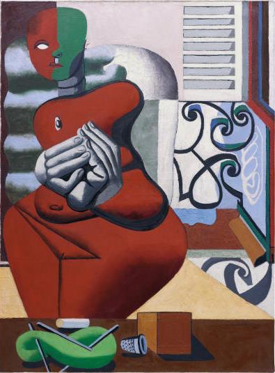 Le Courbusier, Femme rouge et pelote verte (1932), via Phillips