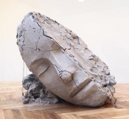 Mark Manders, Dry Head on a Wooden Floor (detail) (2015), via Rae Wang for Art Observed