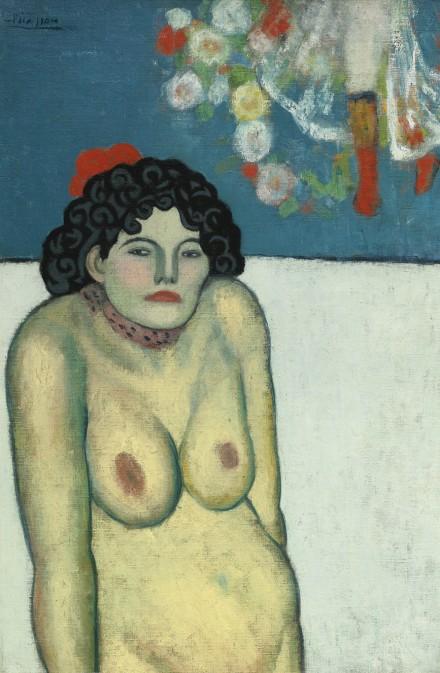 Pablo Picasso, La Gommeuse (1901), via Sotheby's