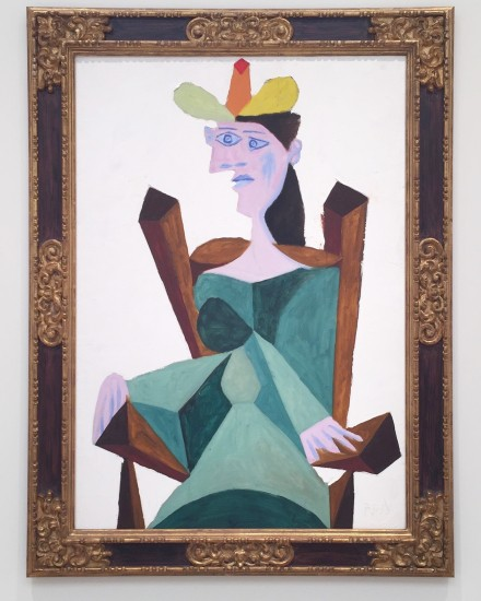 Pablo Picasso, Femme Assise Sur Une Chaise (938), via Rae Wang for Art Observed