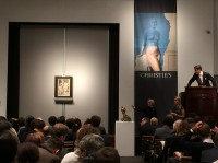 Pablo Picasso's La Carafe (Bouteille et verre) sells at Christie's, via Rae Wang for Art Observed