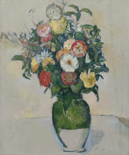 Paul Cézanne, Fleurs Dans Un Pot D'Olives (1880 - 1882)