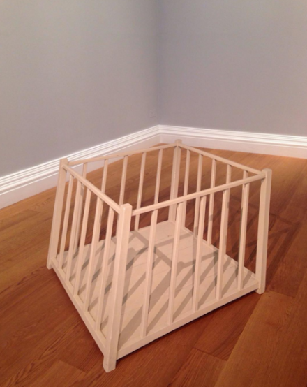 Robert Gober, Tilted Playpen (1997)