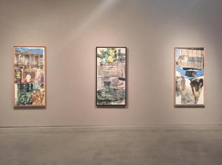 Robert Rauschenberg, Anagrams, Arcadian Retreats, Anagrams (A Pun)  (Installation View), via Art Observed