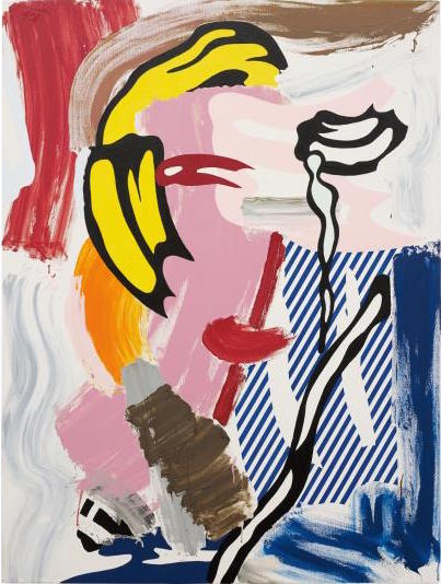 Roy Lichtenstein, Face (1986), via Phillips