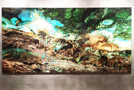 Teresita Fernández, Viñales (Aerial) (2015), via Rae Wang for Art Observed