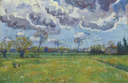Vincent van Gogh Paysade Sous un Ciel Mouvementé (1889)