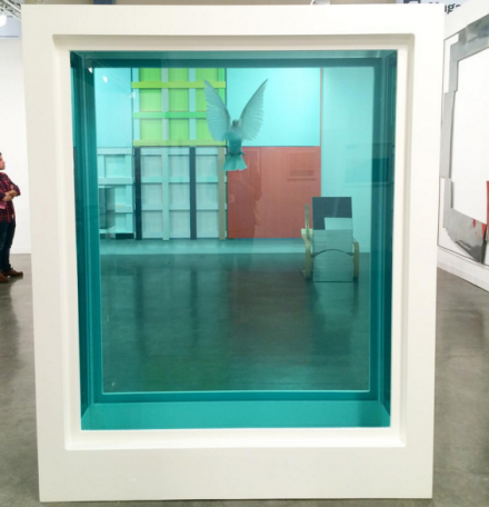 A Damien Hirst Formaldehyde work at White Cube