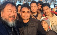 Ai Weiwei with Refugees, via Telegraph