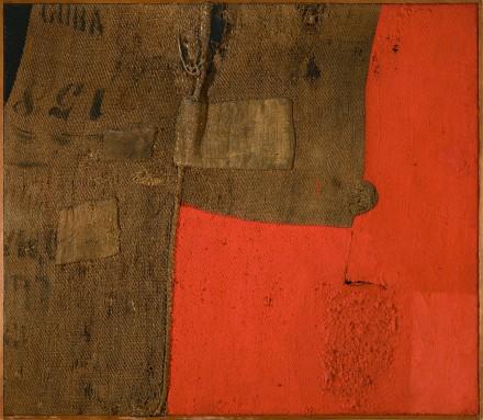 Alberto Burri, Sacco H 8 (1953) Courtesy Guggenheim Museum