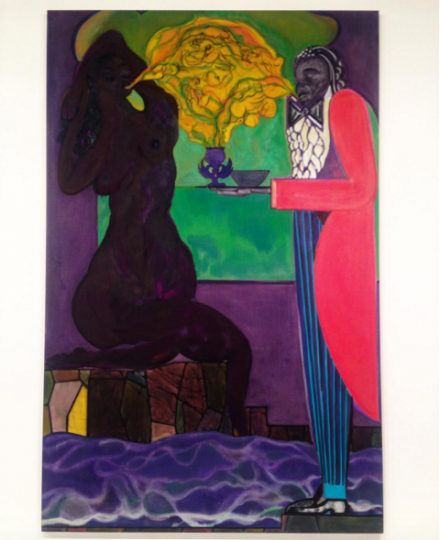 Chris Ofili, Poolside (Smoke Signals) David Zwirner