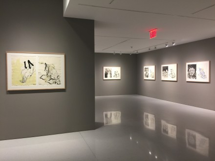 Georg Baselitz, Visit from Hokuskai (Installation View), via Art Observed