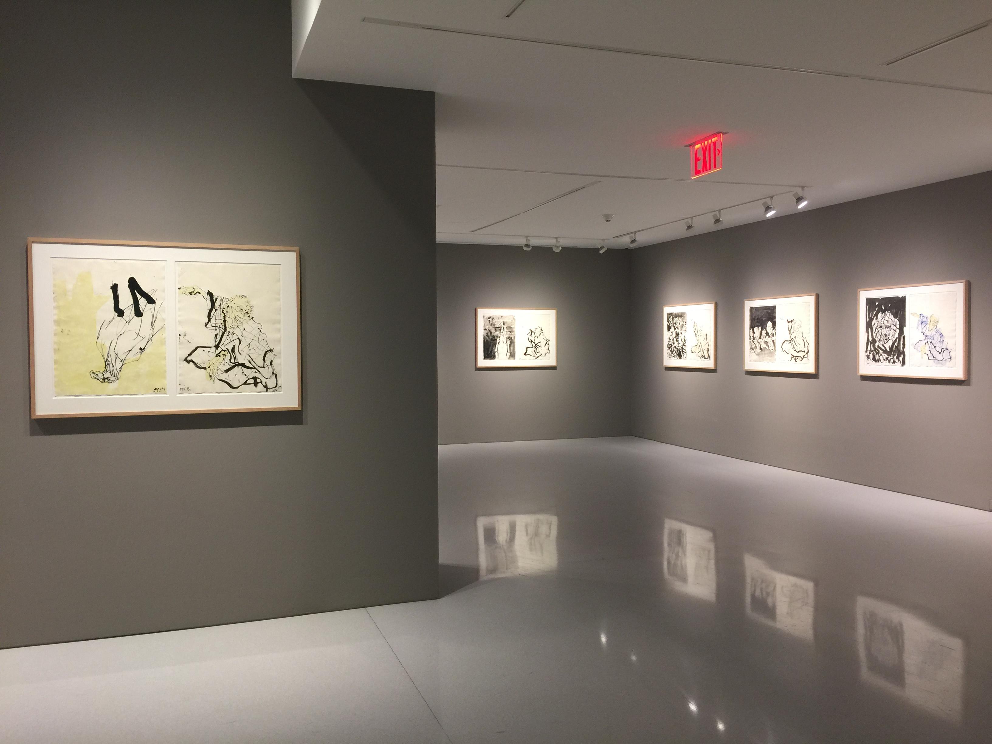 Inspirational Georg Baselitz Visit from Hokuskai Installation View via Art Observed