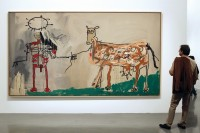 Jean-Michel Basquiat's The Field Next to the Other Road, via Art Newspaper