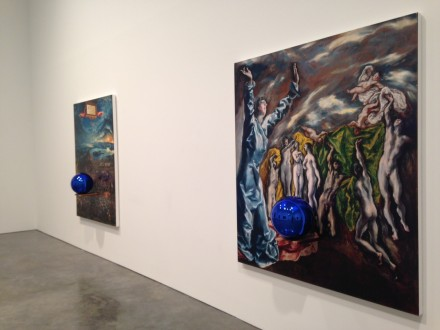 Jeff Koons, Gazing Ball Paintings at Gagosian Gallery (Installation View)